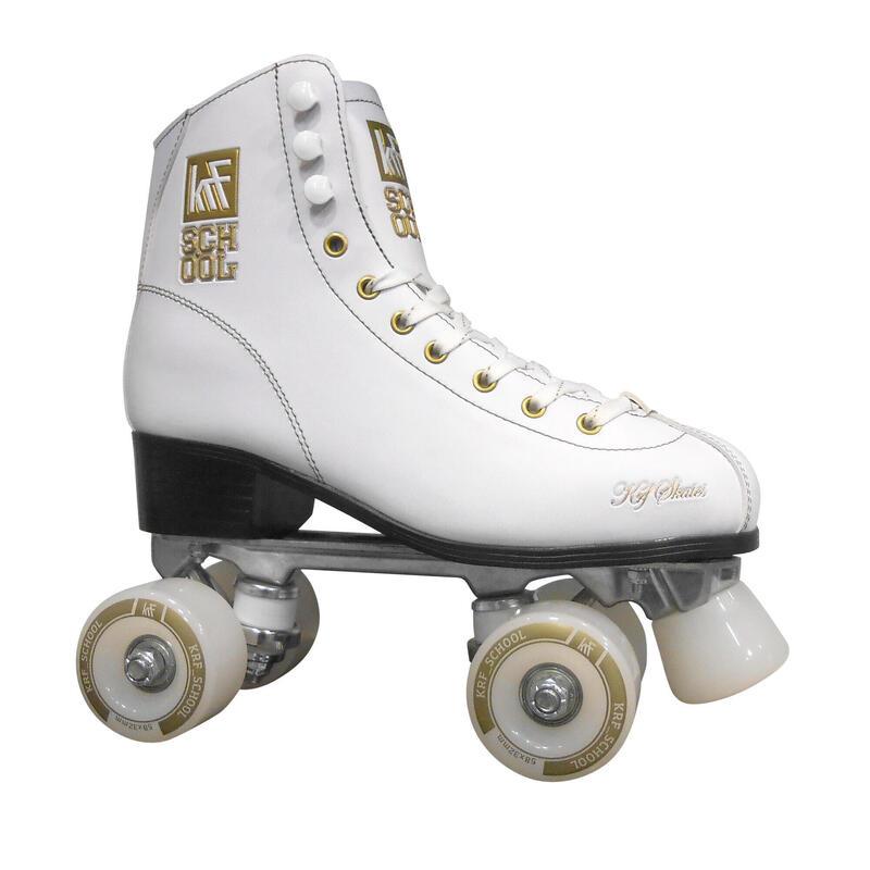 School Pro Alu Kids' Quad Roller Skates - White