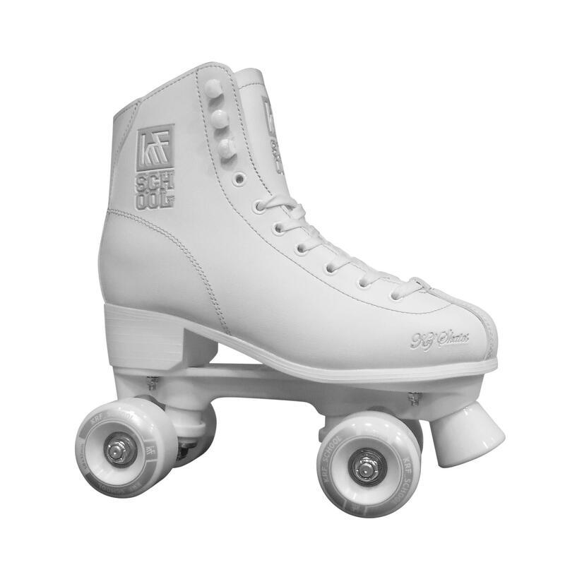 School Kids' Quad Roller Skates - White