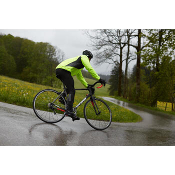 COUPE PLUIE VELO HOMME 500 FLUO SOFTLIME - 1011050