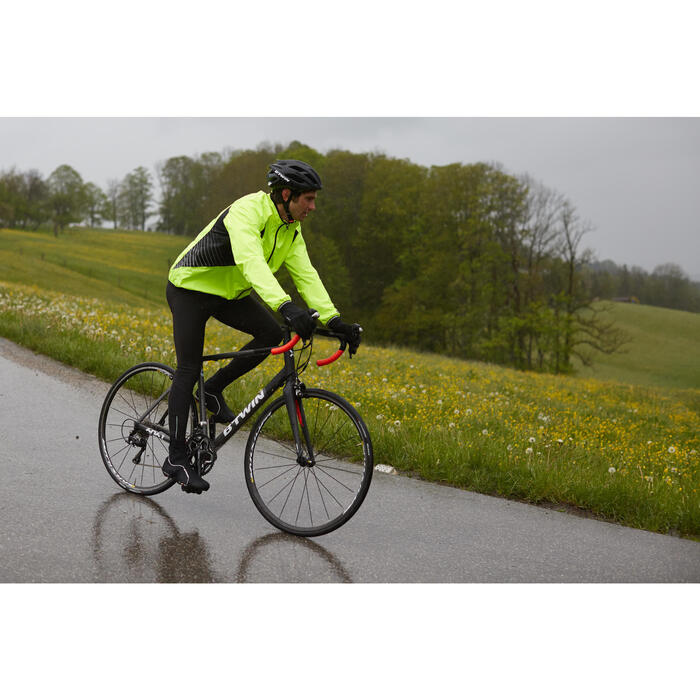 COUPE PLUIE VELO HOMME 500 FLUO SOFTLIME - 1011054
