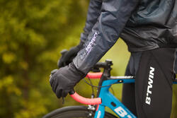 Regenjasje 900 Light voor fietsers, herenmodel, grijs - 1011175