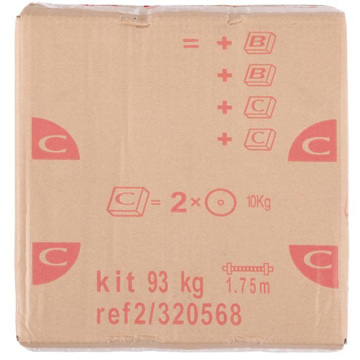 Kit de pesas y barras de musculación de 93 kg