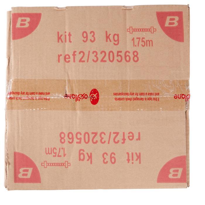 Kit haltères et barres musculation kit 93 kg - 101135