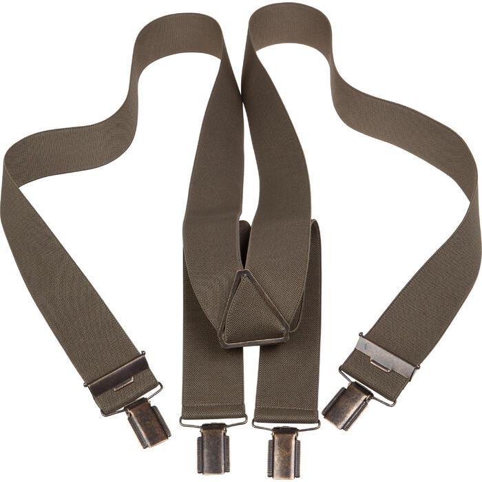 Bretels voor jagers effen kaki - 1011394