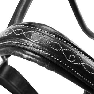 Jaquimón cuero equitación poni y caballo ROMEO Negro