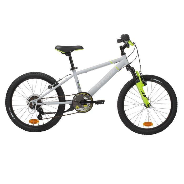 "Mountainbike 20"" Rockrider 500 Kinder grau/neongelb"