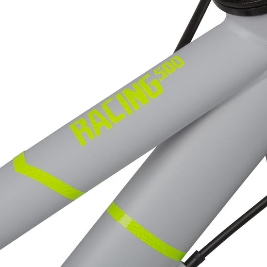 VELO 20 POUCES RACING 500 GRIS/FLUO