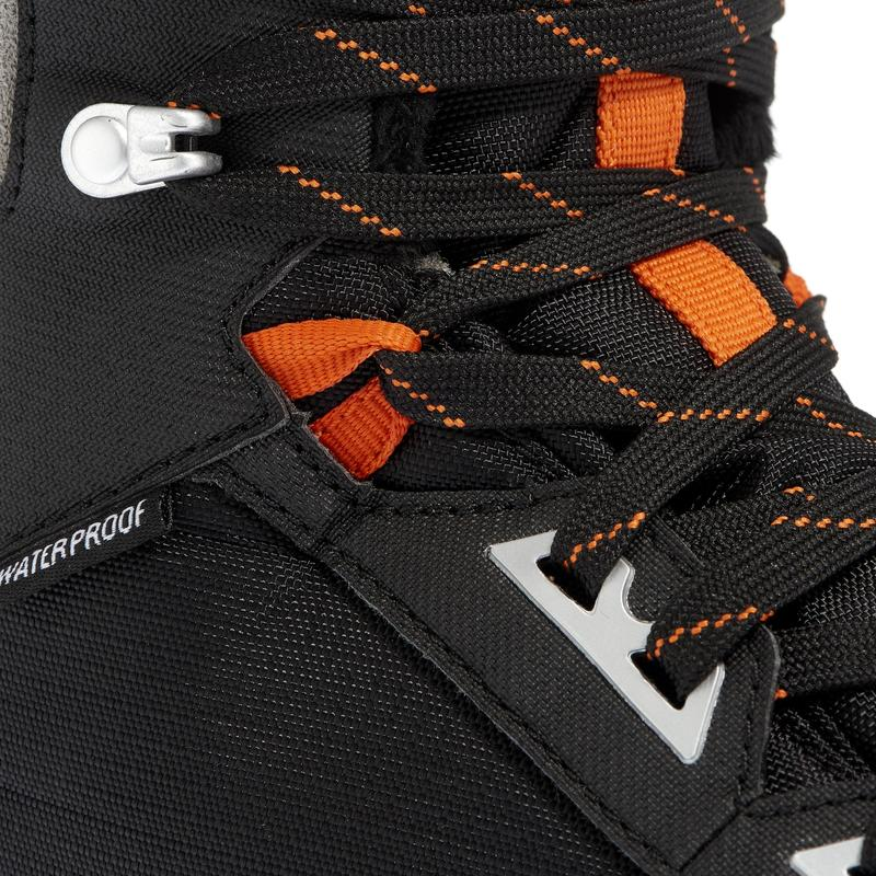 SH520 Men's x-warm mid black snow hiking boots.
