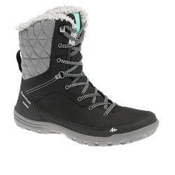 SH100 Women's Black Warm High Snow Hiking Boots
