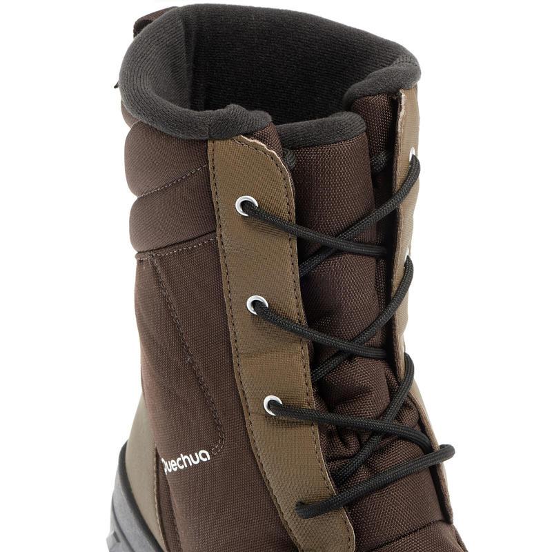 Bottes de randonnée neige homme SH300 chaudes et imperméables Marron