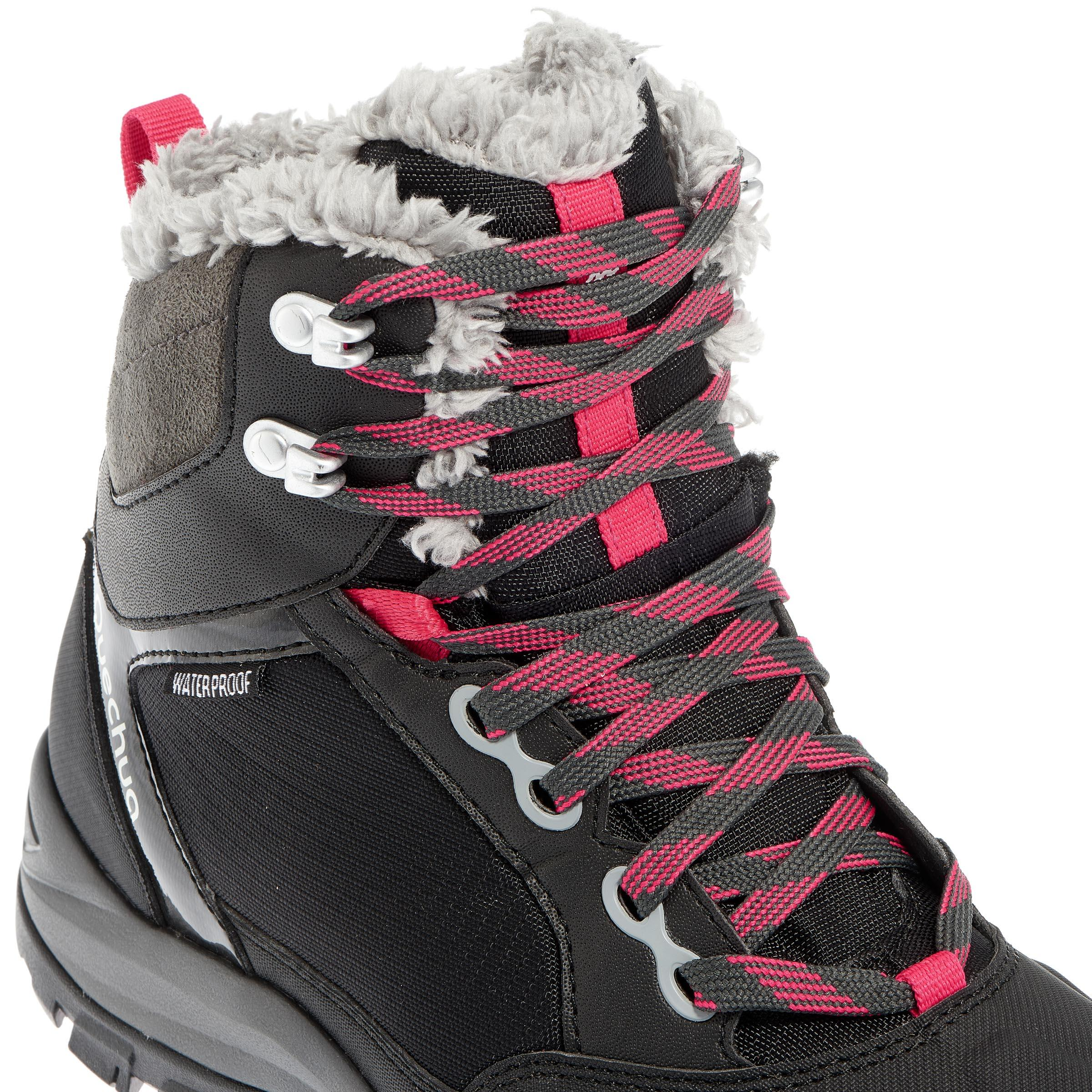 Women's Snow Hiking Shoes SH520 X-Warm Mid - Black