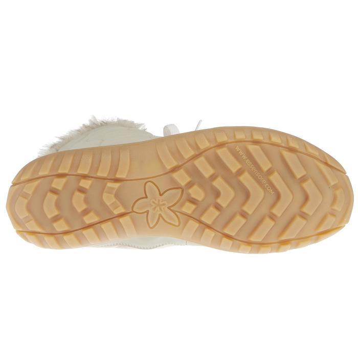 Dames wandellaarzen voor de sneeuw SH500 X-warm veters beige