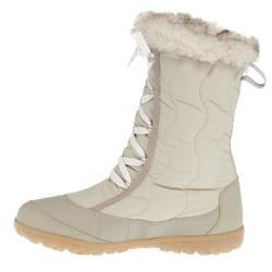 Schneestiefel Winterwandern SH500 X-Warm wasserdicht Damen beige