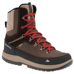 Botas senderismo por la nieve hombre SH900 high cálidas e impermeables marrón