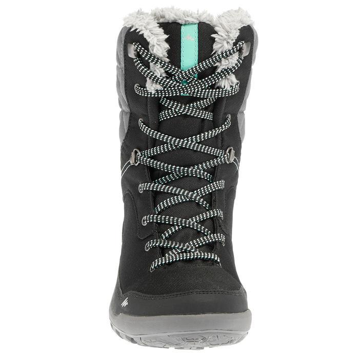 Dames wandelschoenen voor de sneeuw SH100 warm high zwart
