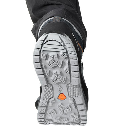 Men's winter hiking boots x-warm mid SH500 - blue.