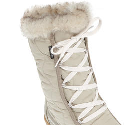 Bottes de randonnée neige femme SH500 x-warm lacets beige