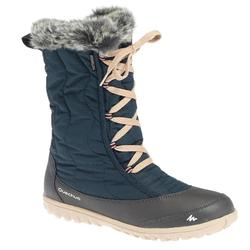SH900 Women's Warm and Waterproof Snow Hiking Boots - Beige