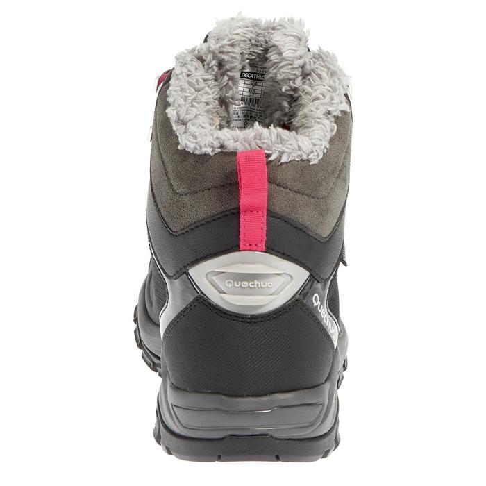 Dames wandelschoenen voor de sneeuw SH520 X-warm mid zwart