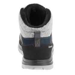 Chaussures de randonnée neige homme SH500 x-warm mid bleues.