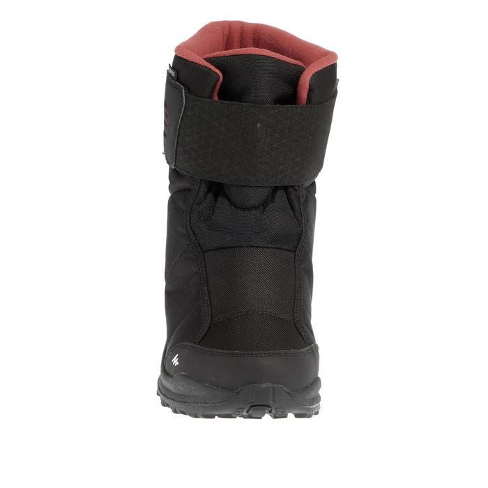 Wandellaarzen voor de sneeuw dames SH100 X-warm zwart/roze