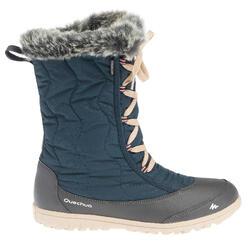 Botas de senderismo nieve mujer SH500 x-warm cordones azul