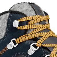 bottes de randonnée neige homme SH500 x-warm mi-hauteur bleues.