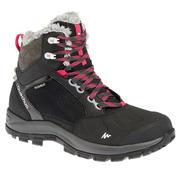 Črni ženski pohodniški čevlji SH520