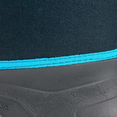 حذاء التدفئة الطويل المقاوم للماء للأطفال للمشي لمسافات طويلة في الجليد – أزرق