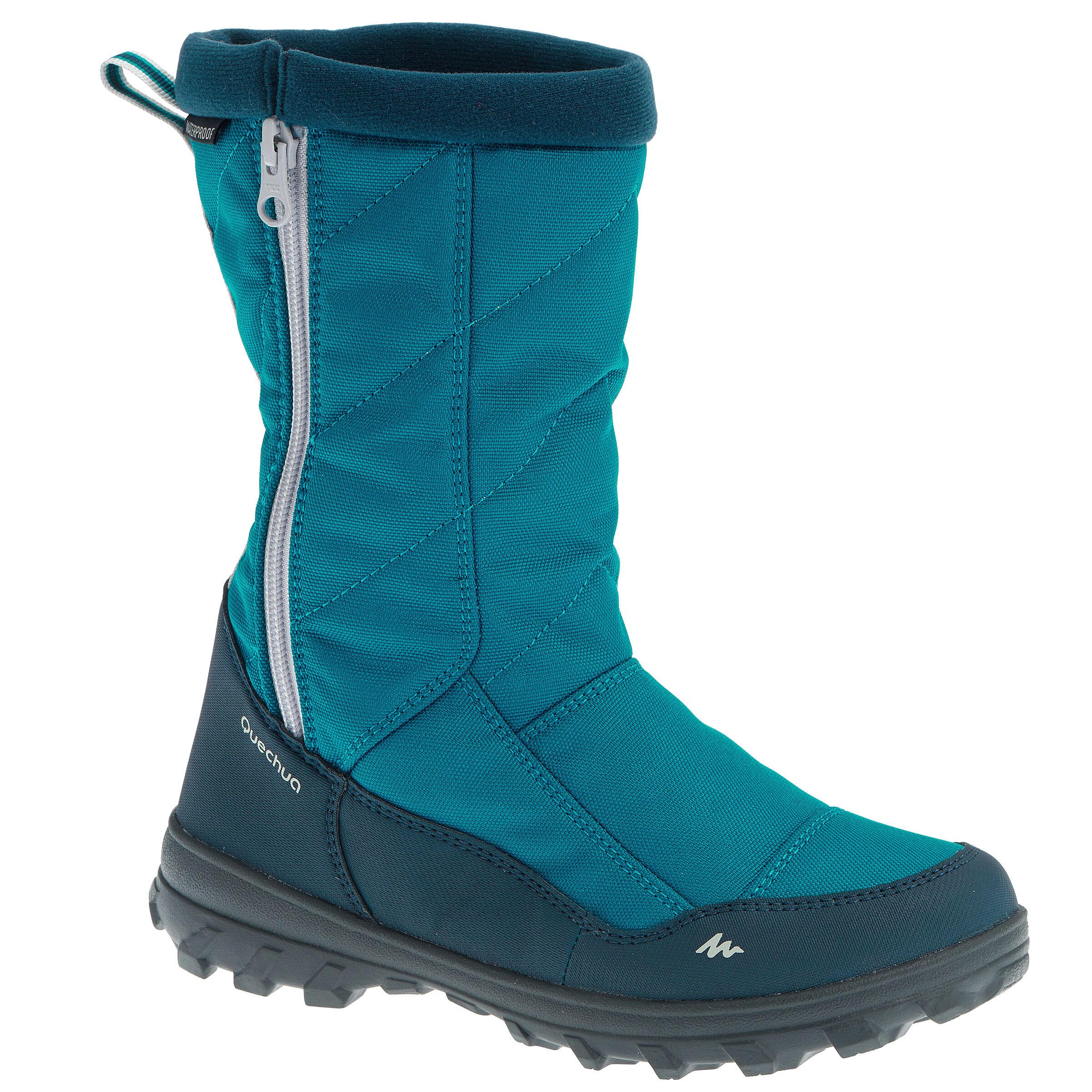 Bottes de randonnée neige junior SH500 CHAUDES bleues