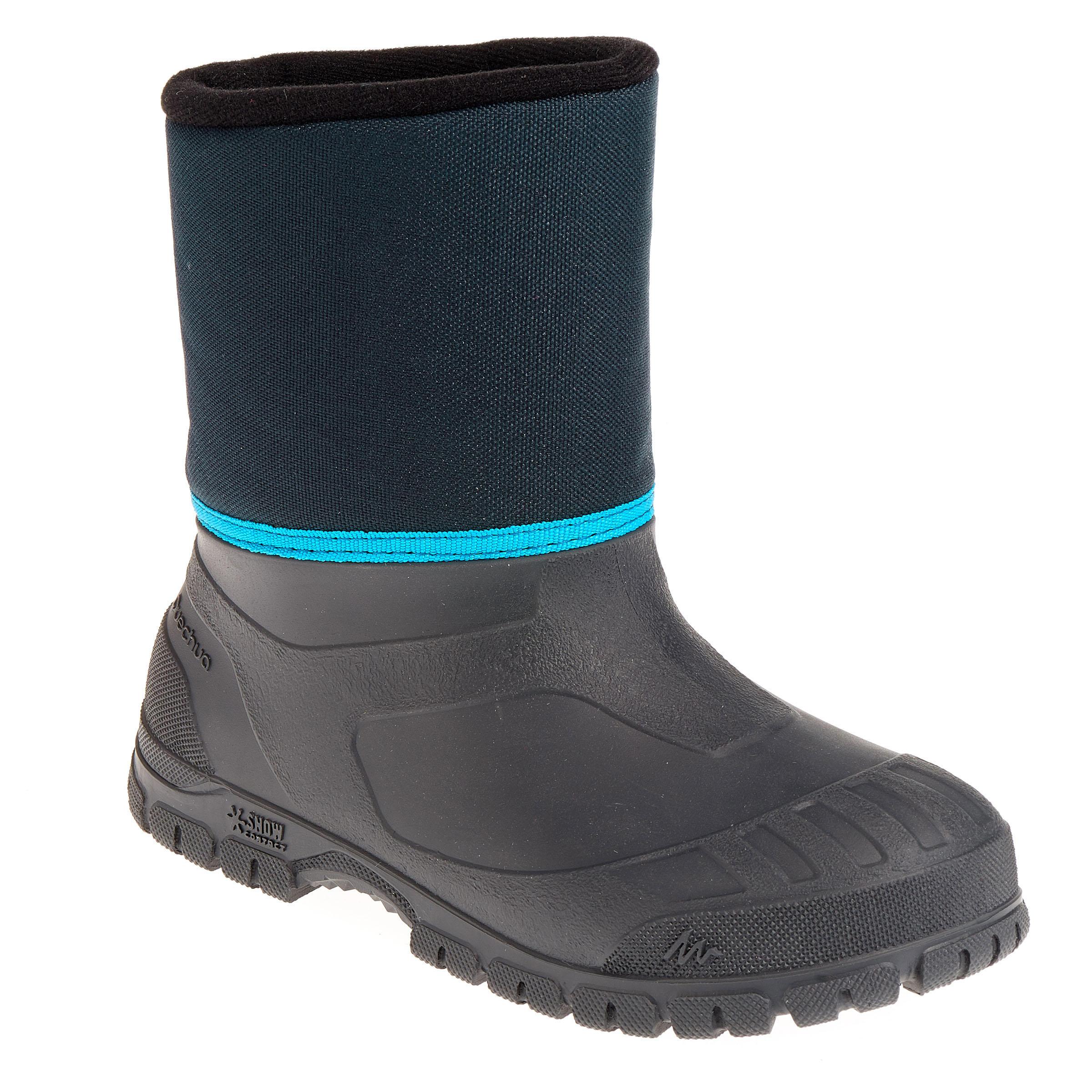 Bottes de randonnée neige junior SH100 chaudes bleu