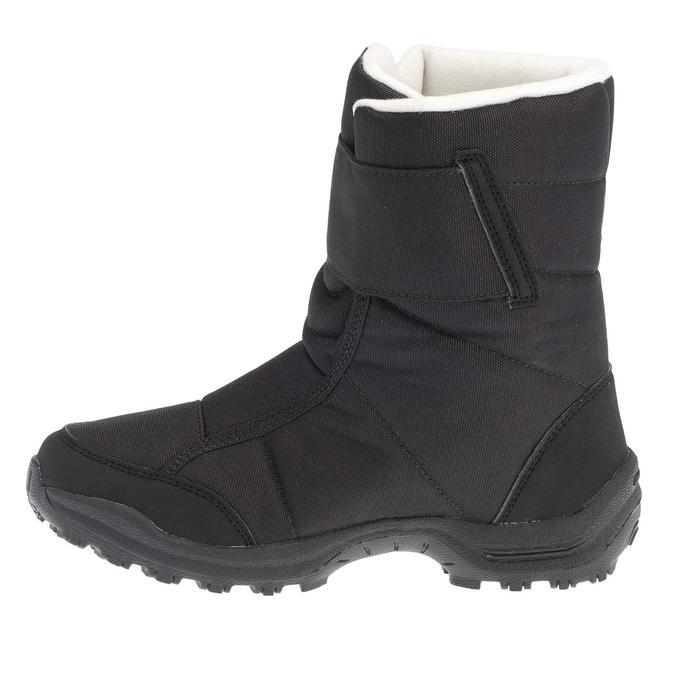 Kinder wandellaarzen voor de sneeuw SH100 X-warm zwart