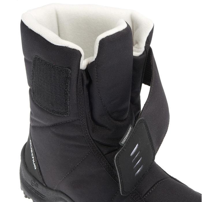 Schneestiefel Winterwandern SH100 X-Warm wasserdicht Kinder schwarz