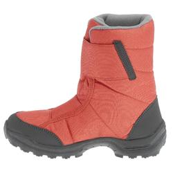 兒童款超保暖雪地健行靴SH100-珊瑚紅