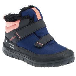 青少年保暖魔鬼氈雪靴SH100-藍色