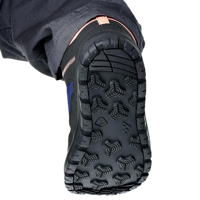 Junior warm snow hiking shoes rip-tab mid SH100 - Navy