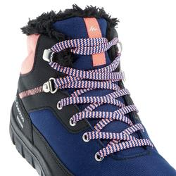 Children's Warm Lace-up Snow Hiking Shoes SH100 Warm Mid - Coral