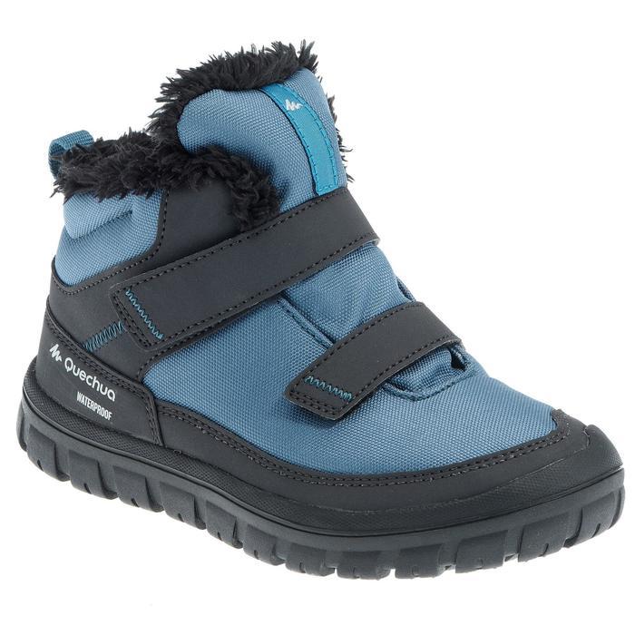 Junior snow hiking warm shoes warm rip-tab mid SH100 - Blue