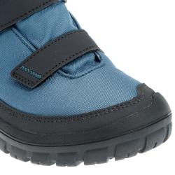 Junior snow hiking warm shoes warm rip-tab mid SH100 - Blue