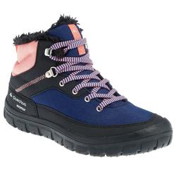 SH100 Laces Children's Warm and Waterproof Snow Hiking Boots - Coral
