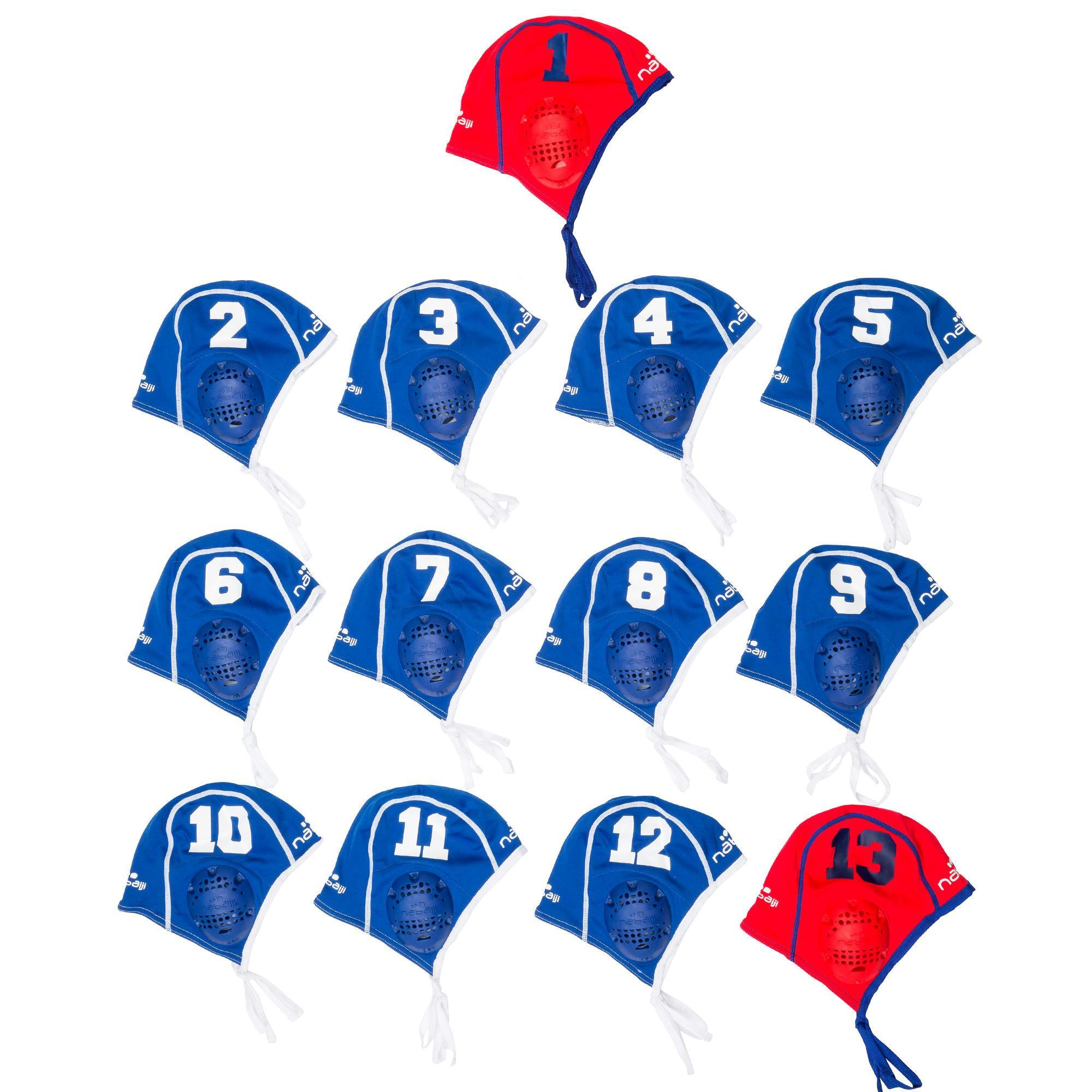 Damen,Herren Wasserball-Kappen 13St. Erwachsene blau | 03583788489375