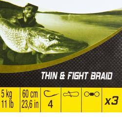 Onderlijn roofvissen Thin + Fight 5 kg