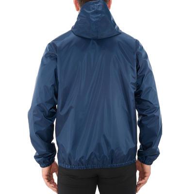 Chaqueta impermeable de excursionismo para hombre RainWarm 50 azul marino