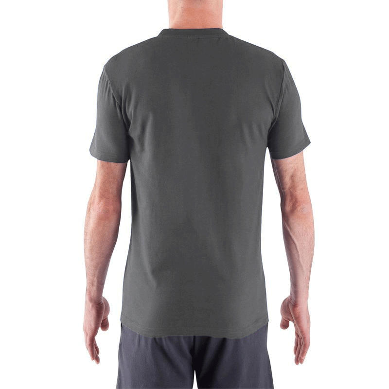 ESSENTIAL ATHLETEE COTTON FITNESS T-SHIRT - HERON GREY