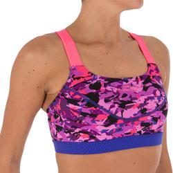 Anna Women's Chlorine-Resistant Aquabiking Crop Top - All Crac Pink