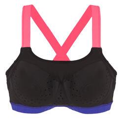 Haut de maillot de bain  d'aquaforme femme Anna noir rose