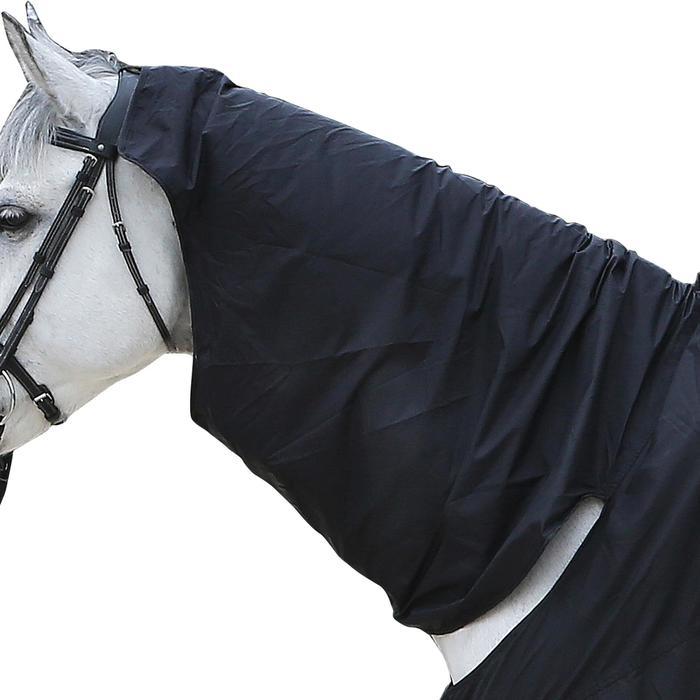 Chemise imperméable équitation poney et cheval PROTECT'RAIN noir - 101325