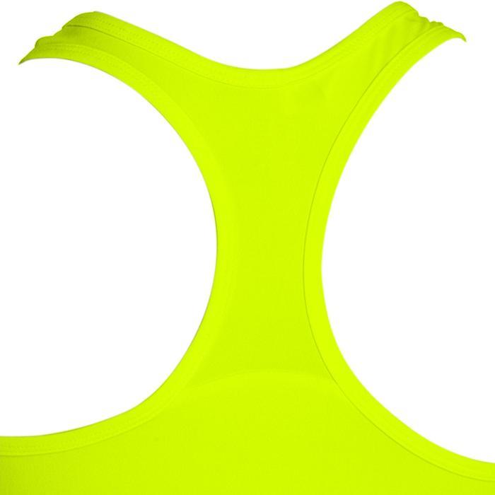 Fitness top My Top 100 voor dames, geel