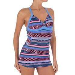 Maillot de bain natation femme une pièce Riana skirt allknit bleu