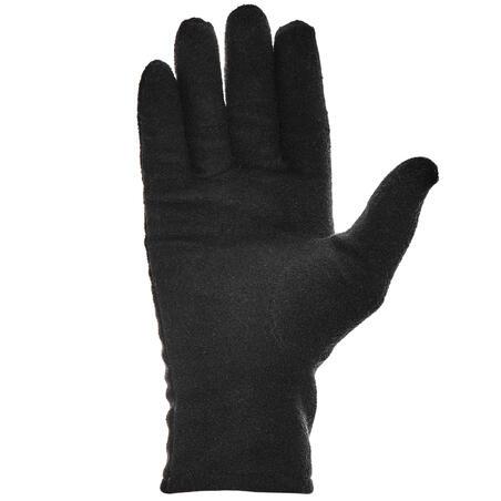 Adult Mountain Trekking Recycled Polyester Liner Gloves - TREK 100 Black
